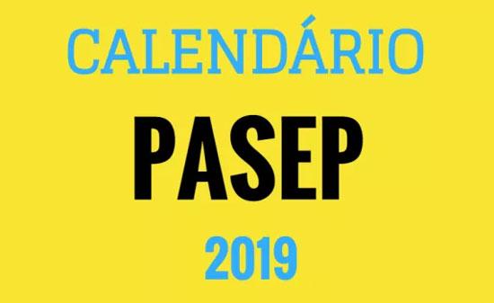 Calendário do PIS/PASEP 2019